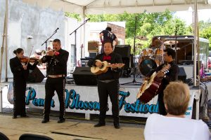 A Band performs at last year's Peach Blossom Festival in Johnston