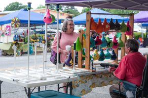 Arts and crafts vendors and food vendors are a big part of the Johnston Peach Blossom Festival.